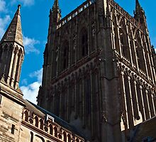 Worcester Catherdral tower by Lissywitch