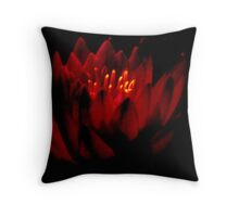 THE   WARM GLOW  OF A   WATER  LILY    Throw Pillow