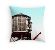 Steam Water Tower Throw Pillow