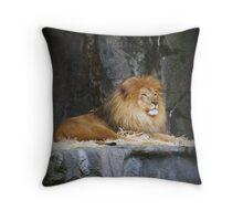 On His Throne Throw Pillow