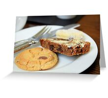 Cake & Biscuits Greeting Card