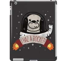 SPACE PUPPY HAZ A ROCKET! iPad Case/Skin