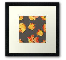 - Yellow tulips patter 2 - Framed Print
