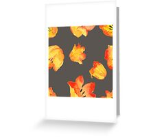 - Yellow tulips patter 2 - Greeting Card
