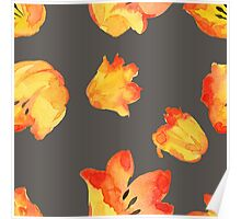 - Yellow tulips patter 2 - Poster