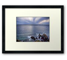 Some rocks, Some Water & Some Clouds - Alderney Framed Print