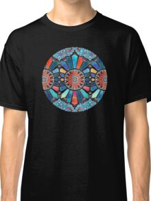 Iridescent Watercolor Brights on Black  Classic T-Shirt