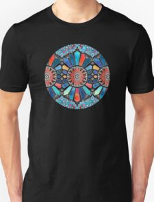 Iridescent Watercolor Brights on Black  Unisex T-Shirt