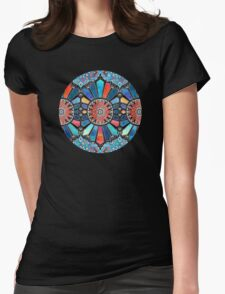 Iridescent Watercolor Brights on Black  Womens Fitted T-Shirt