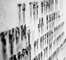 Worn Writing on Headstone by AriseShine