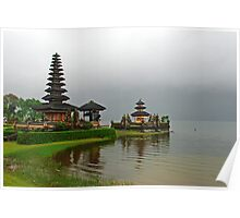 Hindu temple - Balinese style Poster