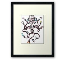 Multifunctional Robot Framed Print