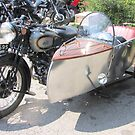 Motorcycle and Sidecar Elegance by John Thurgood
