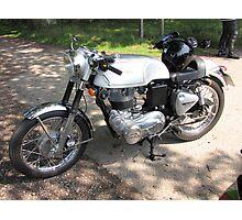 Clasic British Motorbike Photographic Print