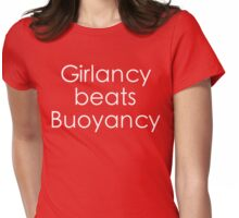 Girlancy Beats Buoyancy - White Lettering Womens Fitted T-Shirt