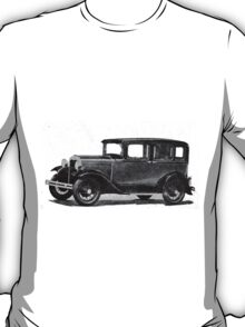 In the end of Night ... arises the Model A Ford ... a legendary car, ideal for illustrated stickers, phone shell etc...  2015  (c)(t) 01 by Olao-Olavia / Okaio Créations T-Shirt