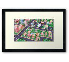 Vector City Framed Print