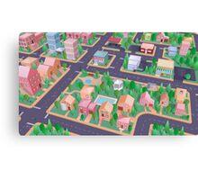 Vector City Canvas Print