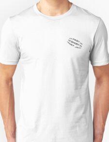 Textile Reincarnation - Black Lettering T-Shirt