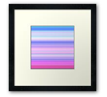 Spring-Summer Colour Stripes Framed Print