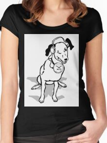 My Dog's MP3 Wink Women's Fitted Scoop T-Shirt