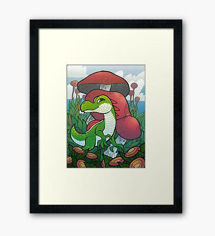 Yoshi of the Mushroom Kingdom Framed Print