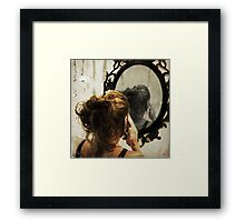 It is not always easy to look yourself in the eyes Framed Print