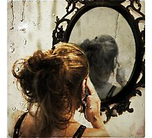 It is not always easy to look yourself in the eyes Photographic Print