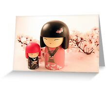 Toki and Michiko in Pink Greeting Card