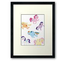 Poobrain Teenies! Framed Print
