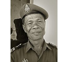 Cambodian soldier Photographic Print