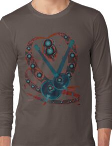 Psychedelic Guitar Long Sleeve T-Shirt