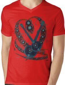 Psychedelic Guitar Mens V-Neck T-Shirt