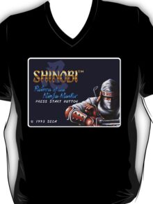Shinobi Genesis Megadrive Sega Start menu screenshot T-Shirt