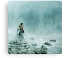 The Silver Swan Canvas Print