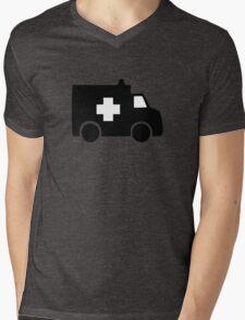 ambulance paramedic medic vehicle Mens V-Neck T-Shirt