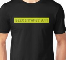 LCD: Beer Intake? Yes/No Unisex T-Shirt