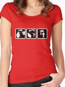 Grenade throwing 101 Women's Fitted Scoop T-Shirt