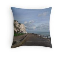 St Margaret's Bay - Kent - UK towards Deal Throw Pillow