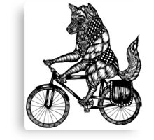 Wolf on a Bike Ride  Canvas Print