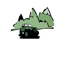 Jeeping It!: GREEN Photographic Print