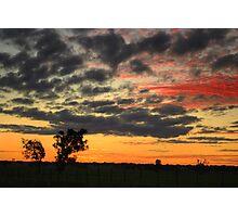Dookie Sunset Photographic Print