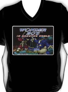 Wonder Boy Genesis Megadrive Sega Start menu screenshot T-Shirt
