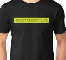 LCD: Reset Clock ? Yes/No Unisex T-Shirt