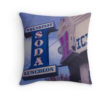 Long Island Sweet Shoppe Throw Pillow