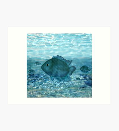 Blue fish... Art Print