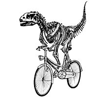 Skeleton Fossil Love Bike  Photographic Print