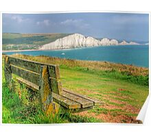 Bench and Seven Sisters - HDR  Poster