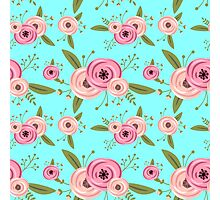 Vector seamless pattern with roses Photographic Print