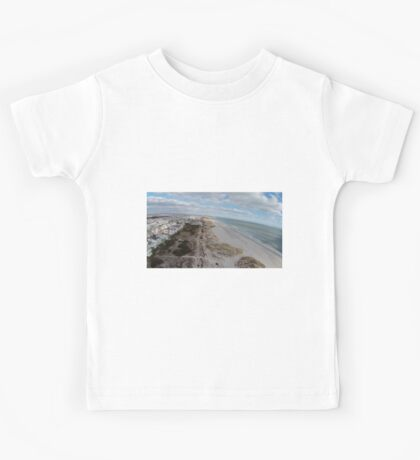 Ocean City NJ Beach, Facing AC on drone Kids Tee